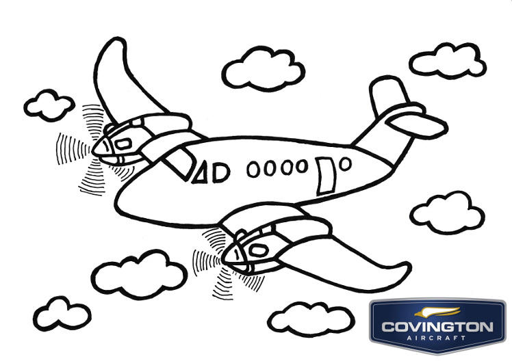 Covington Aircraft Presents The Children S Aviation Art Contest Air 5 Coloring Page
